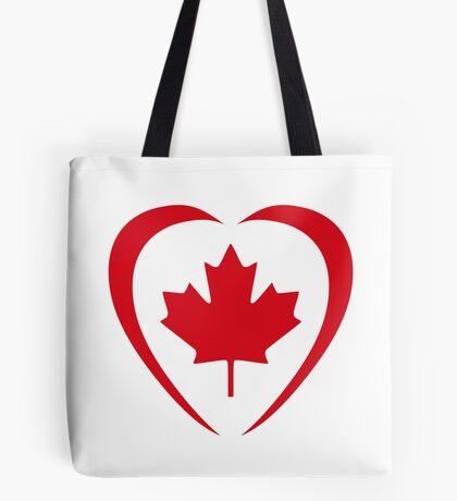 Canadian Patriot Flag Series (Heart) Tote Bag