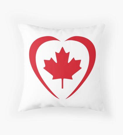 Canadian Patriot Flag Series (Heart) Throw Pillow
