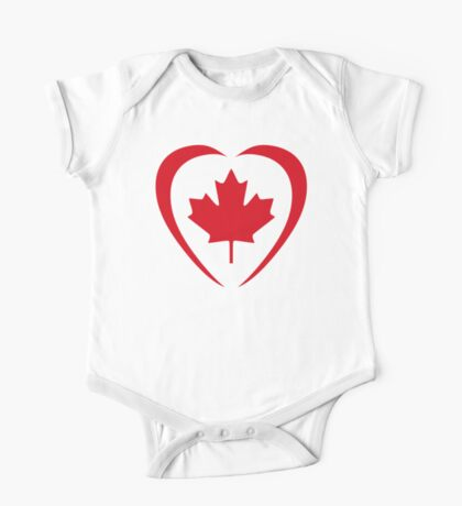 Canadian Patriot Flag Series (Heart) Kids Clothes
