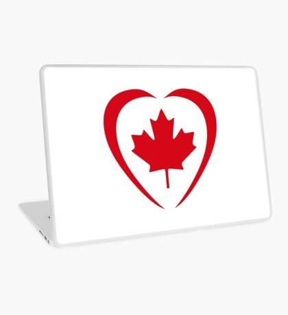 Canadian Patriot Flag Series (Heart) Laptop Skin
