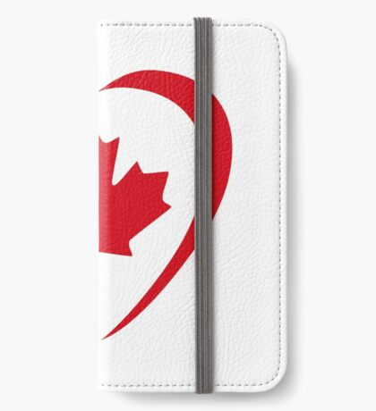 Canadian Patriot Flag Series (Heart) iPhone Wallet