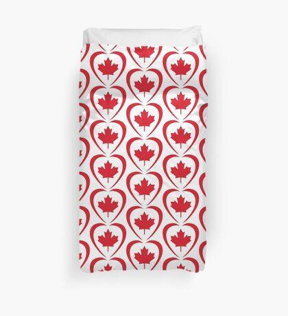 Canadian Patriot Flag Series (Heart) Duvet Cover