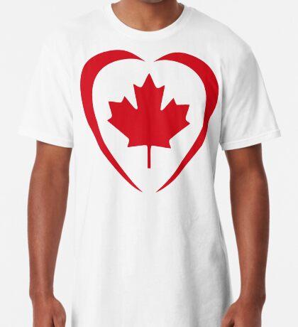 Canadian Patriot Flag Series (Heart) Long T-Shirt