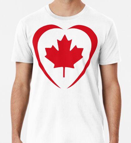 Canadian Patriot Flag Series (Heart) Premium T-Shirt