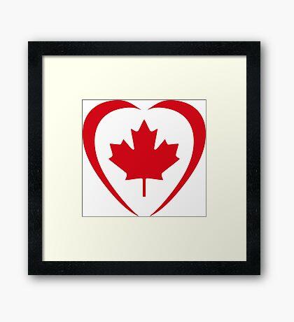 Canadian Patriot Flag Series (Heart) Framed Print