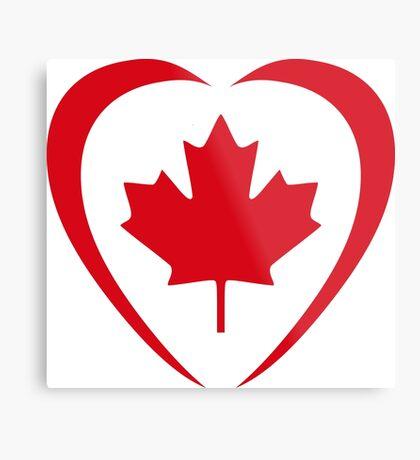 Canadian Patriot Flag Series (Heart) Metal Print