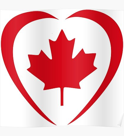 Canadian Patriot Flag Series (Heart) Poster