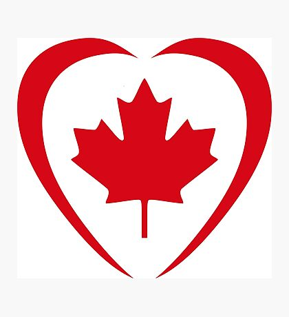 Canadian Patriot Flag Series (Heart) Photographic Print