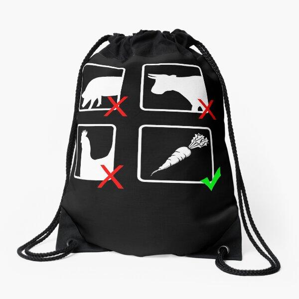 Vegetarian Drawstring Bag