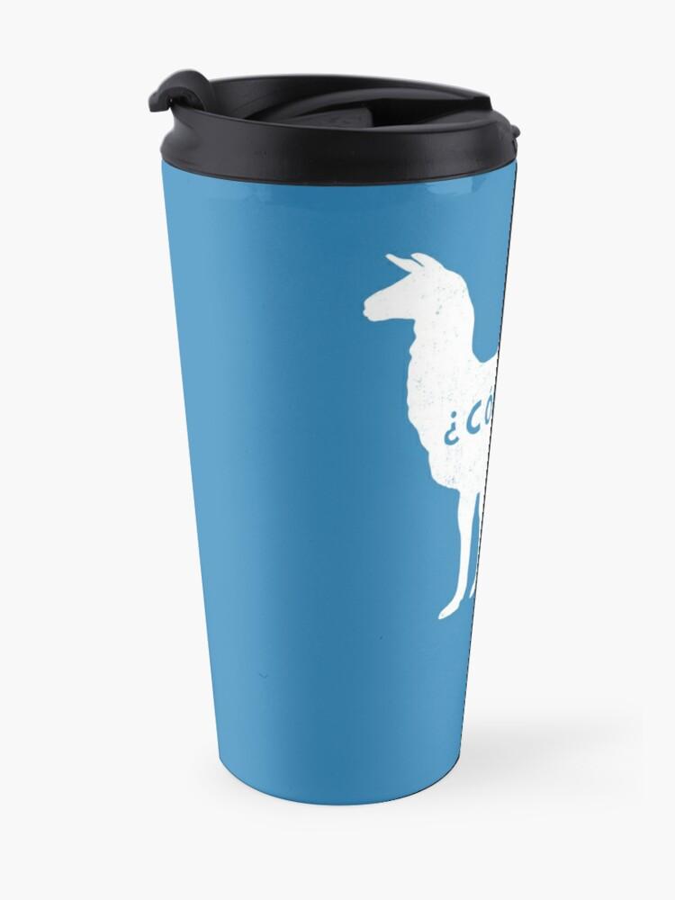 Alternate view of ¿Como se Llama? - Funny Alpaca  Travel Mug