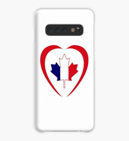 French Canadian Multinational Patriot Flag Series (Heart) Case/Skin for Samsung Galaxy