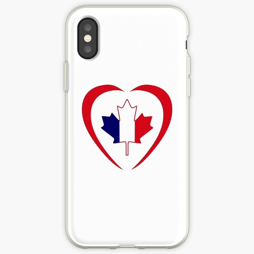 French Canadian Multinational Patriot Flag Series (Heart) iPhone Case & Cover