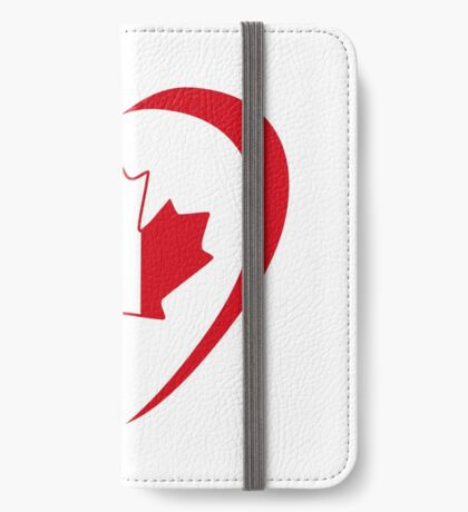 French Canadian Multinational Patriot Flag Series (Heart) iPhone Wallet