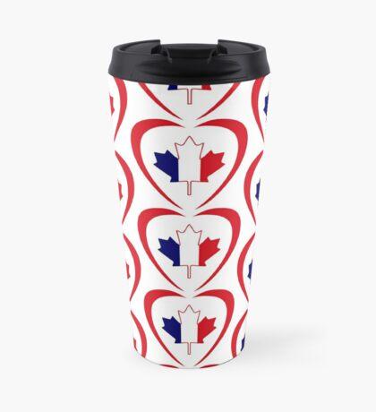 French Canadian Multinational Patriot Flag Series (Heart) Travel Mug