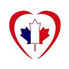French Canadian Multinational Patriot Flag Series (Heart) by Carbon-Fibre Media