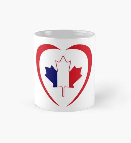French Canadian Multinational Patriot Flag Series (Heart) Mug