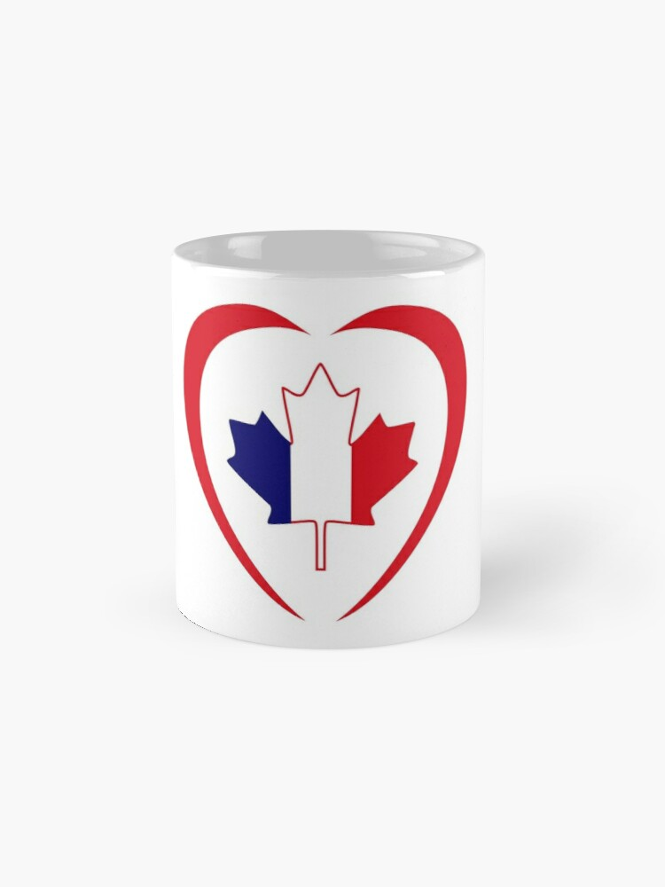 Alternate view of French Canadian Multinational Patriot Flag Series (Heart) Mug
