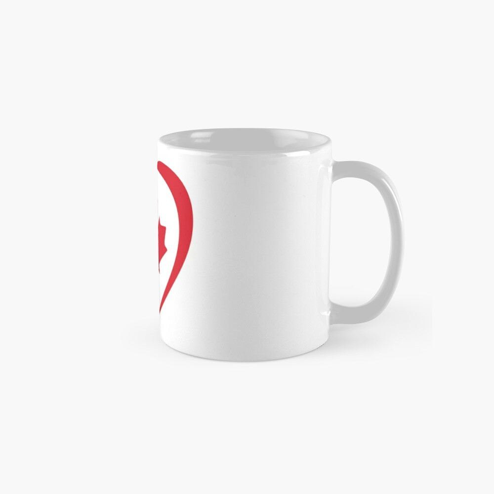 French Canadian Multinational Patriot Flag Series (Heart) Mug