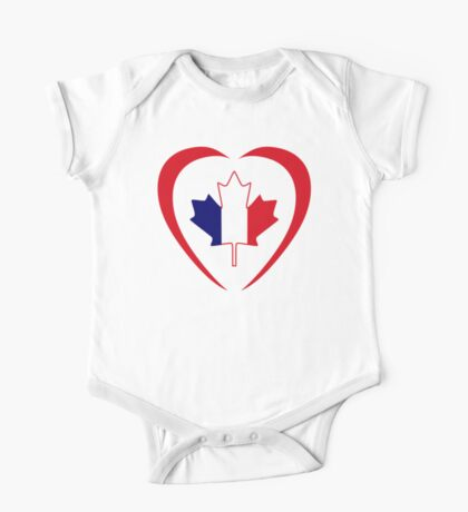 French Canadian Multinational Patriot Flag Series (Heart) Kids Clothes