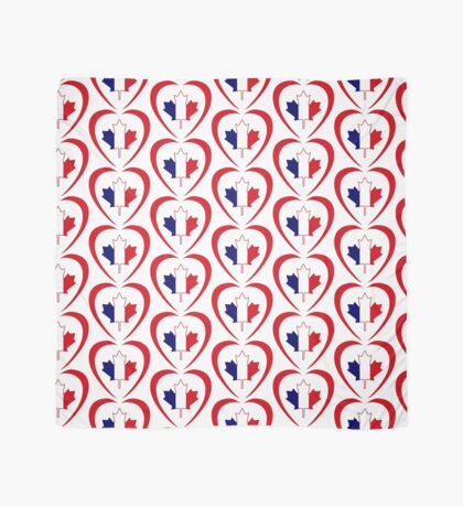 French Canadian Multinational Patriot Flag Series (Heart) Scarf