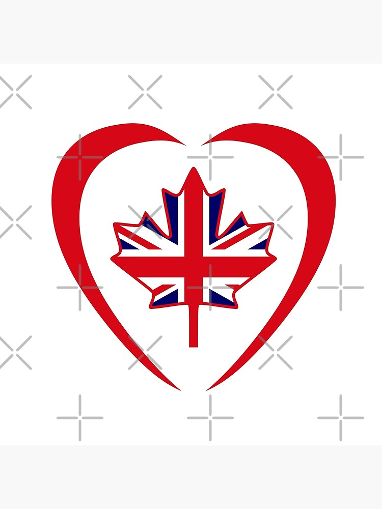 British Canadian Multinational Patriot Flag Series (Heart) by carbonfibreme