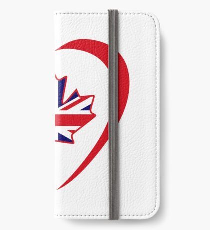 British Canadian Multinational Patriot Flag Series (Heart) iPhone Wallet