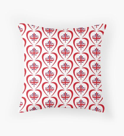 British Canadian Multinational Patriot Flag Series (Heart) Floor Pillow