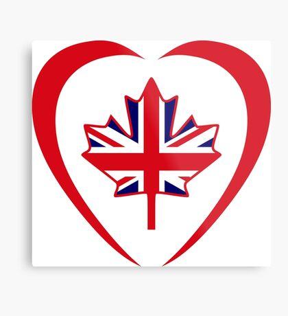 British Canadian Multinational Patriot Flag Series (Heart) Metal Print