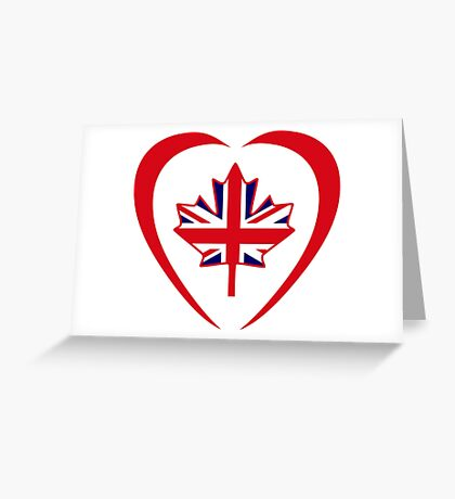 British Canadian Multinational Patriot Flag Series (Heart) Greeting Card
