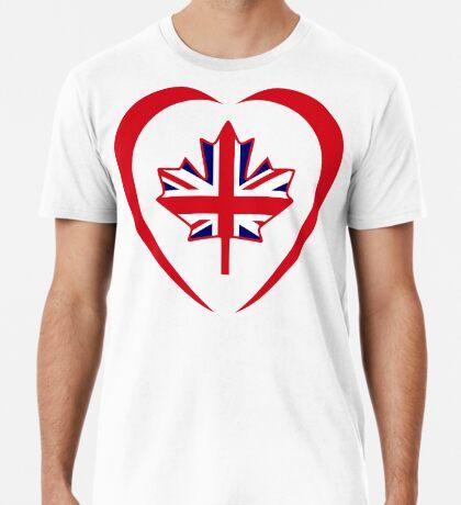 British Canadian Multinational Patriot Flag Series (Heart) Premium T-Shirt