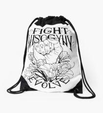 Fight Misogyny Drawstring Bag