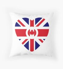 British Canadian Multinational Patriot Flag Series Throw Pillow