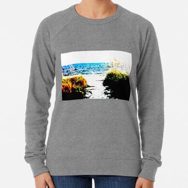 Beach Scene Design #1 Lightweight Sweatshirt