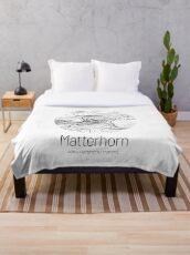 Manta Matterhorn | Topographic Map Design (Minimalist)
