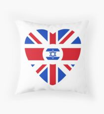 British Israeli Multinational Patriot Flag Series Throw Pillow