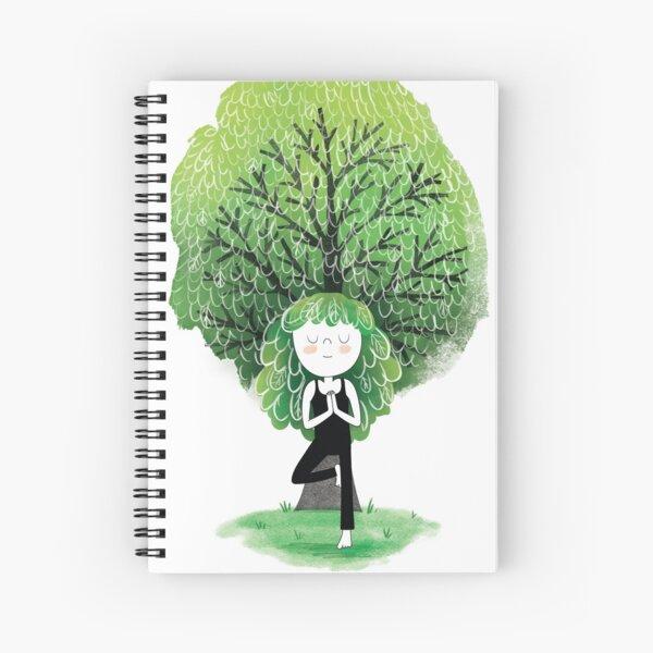 Tree Pose Spiral Notebook