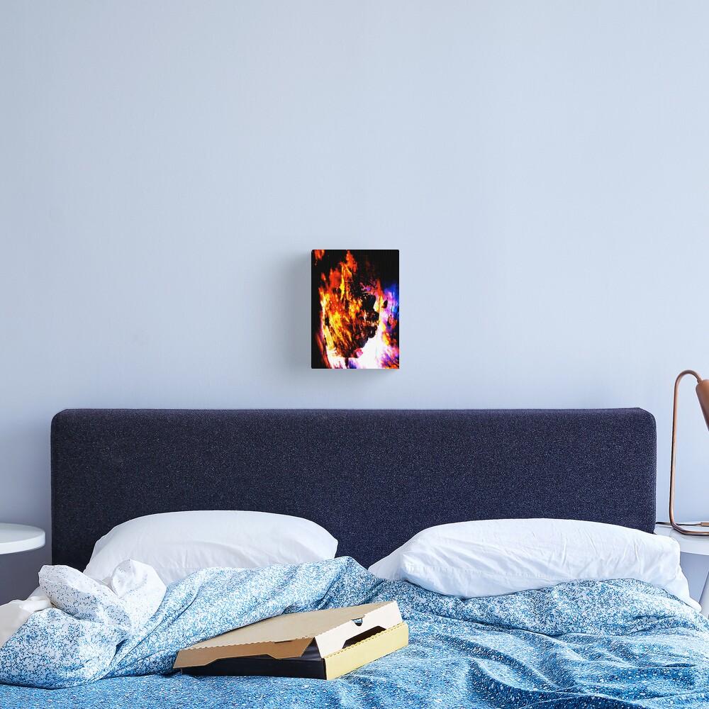 Burning Tree Canvas Print
