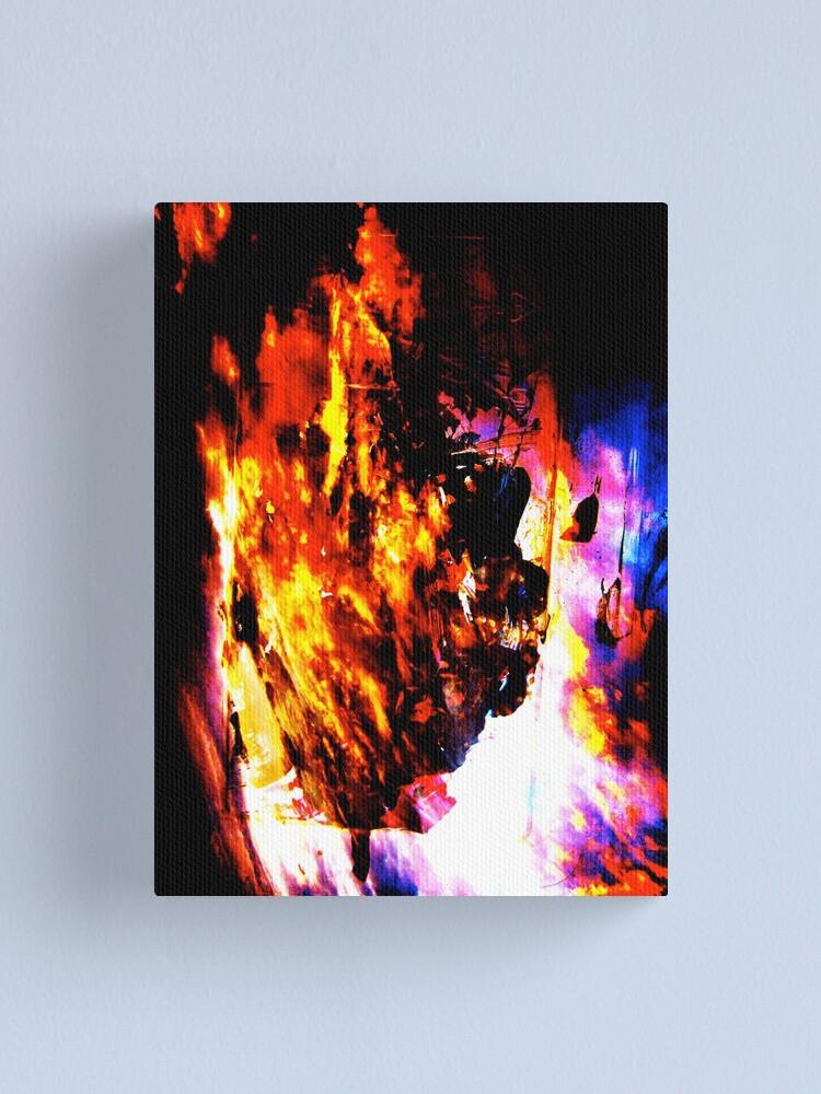 Alternate view of Burning Tree Canvas Print