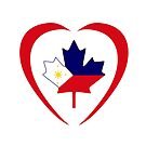 Filipino Canadian Multinational Patriot Flag Series (Heart) by Carbon-Fibre Media