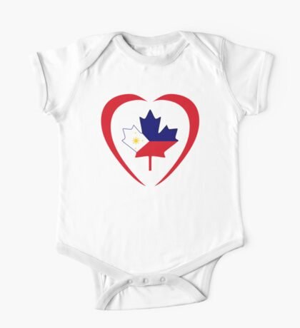 Filipino Canadian Multinational Patriot Flag Series (Heart) Kids Clothes