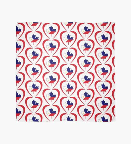 Filipino Canadian Multinational Patriot Flag Series (Heart) Scarf