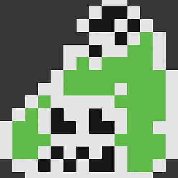 Splatoon Inspired: Black 8-Bit FishFry by kajatta