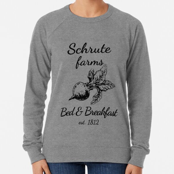Schrute Farms Sweater Funny Saying Sweaters Schrute Farms Bed and Breakfast False Dwight Short Sleeves Gift For The Office Fans Unisex Sweatshirts