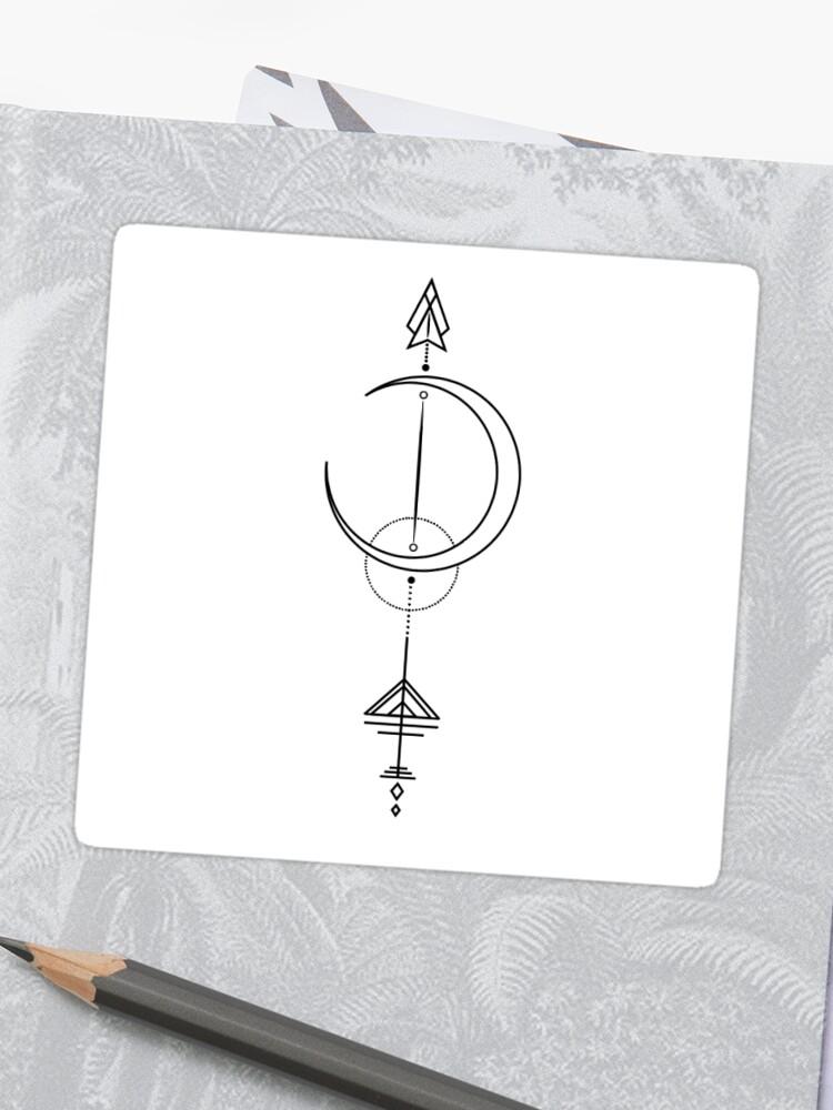 \u0027Artemis Tattoo/Sticker Design\u0027 Sticker by SavingShayna