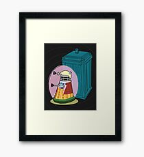 Daleks in Disguise - Sixth Doctor Framed Print