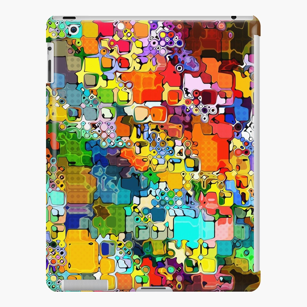 Colorful Abstract Shapes Pattern iPad Case & Skin