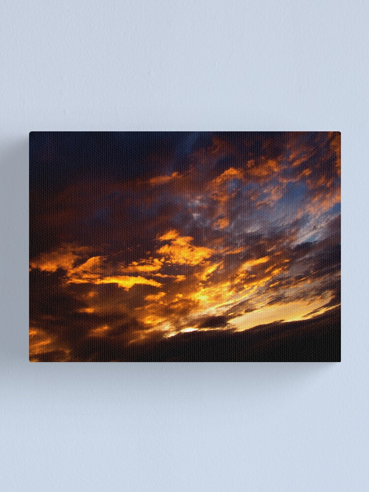 Alternate view of Flaming Sky Canvas Print