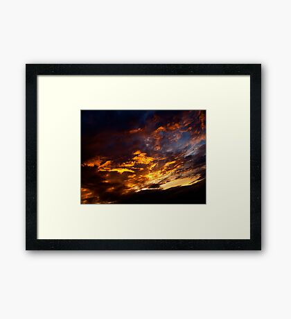 Flaming Sky Framed Print
