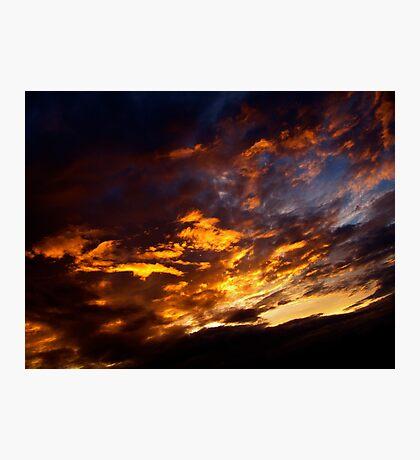 Flaming Sky Photographic Print