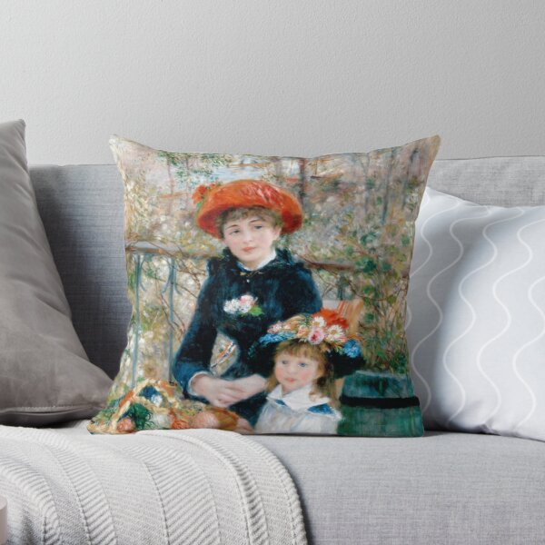 The Two Sisters of Auguste Renoir Throw Pillow